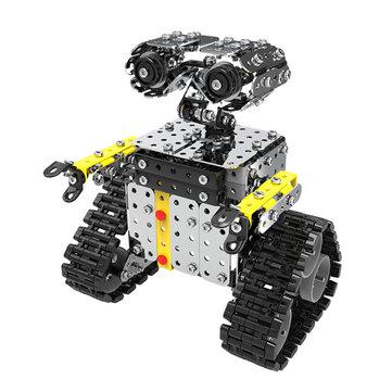 Mofun DIY स्टेनलेस स्टील RC रोबोट स्लाइडिंग ब्लॉक बिल्डिंग इकट्ठे रोबोट खिलौना