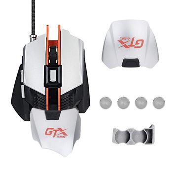 AJazz GTX 4000DPI USB Wired RGB Backlit Ergonomic Optical Gaming...
