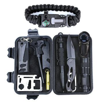 स्व-सहायता बॉक्स के साथ सामरिक शिकार उपकरण के लिए आउटडोर स्पोर्ट्स एसओएस आपातकालीन जीवन रक्षा उ