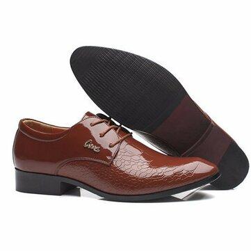 पुरुषों आरामदायक चमड़े का फीता ऊपर औपचारिक व्यापार जूते