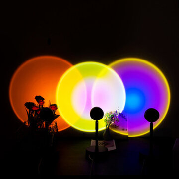 Sun Sunset Rainbow Projector Atmosphere Night Light Lamp USB Room Laser Cove Ceiling Space Hologram Starlight for Home Decoration