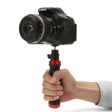 DSLR Camera Handheld Rubber Handle Grip Stand Stabilizer Detachable Ballhead