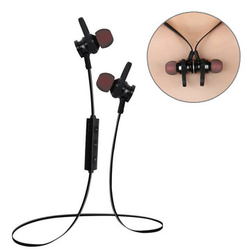 RS-01 Wireless bluetooth Earphone Magnetic Adsorption Bass Sport Headphone for iPhone Samsung Xiaomi