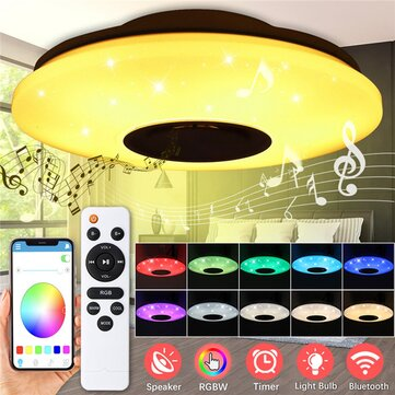 ARILUX 60W AC220V 102LED Starry Lampshade LED Intelligent Ceiling Lamp Bluetooth Music Smart Ceiling Light APP Remote Control