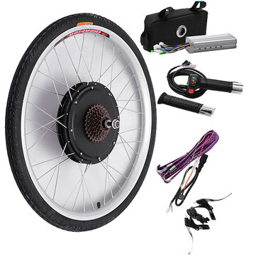 Bikight 48V 500W 26Inch Electric Bicycle Modification Kits Driving Motor Rear Wheel Controller Bike Kits