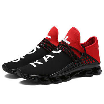 Blade Runner Male Breathable Flying Weave Running Shoes Shock Absorber Sneakers Size 38-44