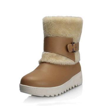 Fodera di pelliccia tenere le donne calde Stivali da neve invernali casuali invernali