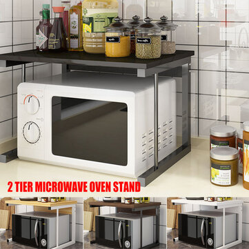 How can I buy 2 Tier Microwave Oven Stand Wood Storage Rack Shelf Space Saving Kitchen Bracket with Bitcoin