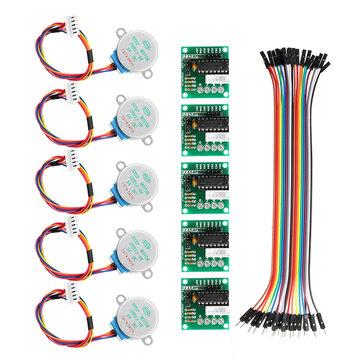 Geekcreit® 5Pcs 5V Motor Stepper Dengan ULN2003 Driver Board Dupont Cable Untuk Arduino