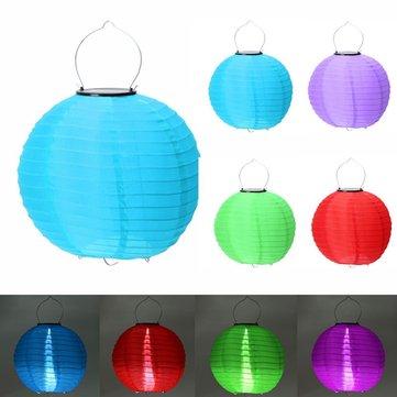 10 inch Solar LED Lantern Light Xmas Wedding Party Outdoor Garden Lamp Decor