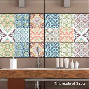 PVC Flowers Stickers Bathroom Living Room Waterproof Kitchen Wall Stickers