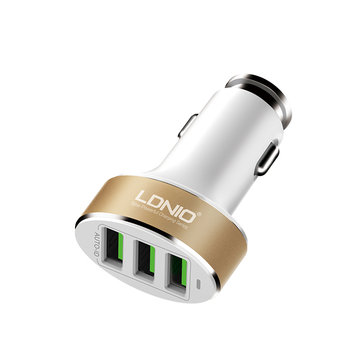 LDNIO C501 3 USB Port Universal Charging Car Charger For Mobile Phone 5V/5.1A Adapter With Cable