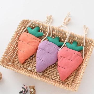 Bella frutta Crossbody Borse bambini cuit carota borsa di cotone moneta ragazze dei bambini borsa casual
