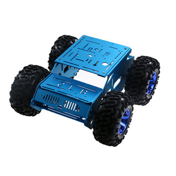 DIY 4WD Aluminous Smart RC Robot Car Chassis For STM32 Raspberry