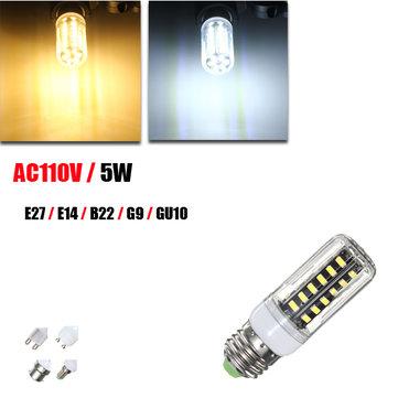 5W G9 E14 E27 B22 GU10 42 SMD 5733 LED White Warm White Cover Corn Light Lamp Bulb AC 110V
