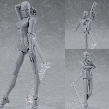 Figure Archetype Action Doll PVC M2.0 Body Female Grey Color Model Doll para la decoración