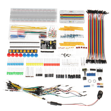 Electronic Components Super Kit With Power Supply Module Resistor Dupont Wire For Arduino With Plastic Box Package
