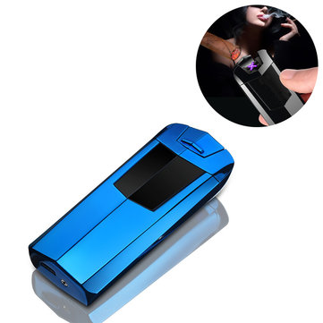 IPRee® Outdoor Electronic USB Double Arc Lighter Windproof Metal Electric Pulsed Ignitor Starter