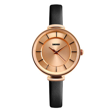 Đồng hồ đeo tay nữ thiết kế đơn giản SKMEI 1184 Đồng hồ đeo tay da thật