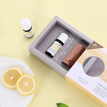 Xiaomi Natural Australian Lemon Purification Essential Oil Aromatherapy Refresh Vigor with Wood Diffuser for Spa Massage