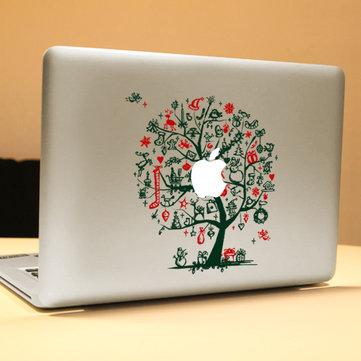 PAG Green Tree Trang trí máy tính xách tay Decal bong bóng có thể tháo rời miễn phí Nhãn dán da tự dính