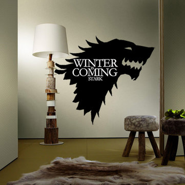 T-5 Game Of Thrones Stark Family Emblem Ice Wolf Wall...