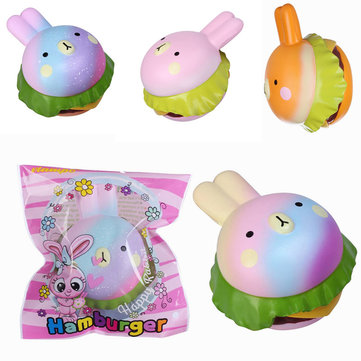 Vlampo Squishy Rabbit Hamburger Bunny Licensed Slow Rising Original Packaging Burger Collection Gift Decor