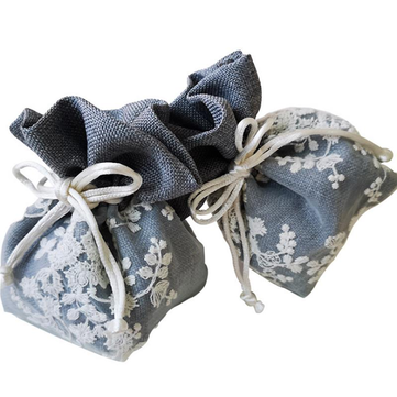 Pearl Yarn Cotton Drawstring Double Embroidery Gift Jewelry Bunch Bag Wedding Decor Supplies