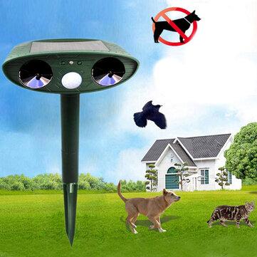 ग्रेटहाउस अल्ट्रासोनिक सौर ऊर्जा पशु डिस्पेलर आउटडोर गार्डन पशु Scarer बिल्ली कुत्ते रिपेलर