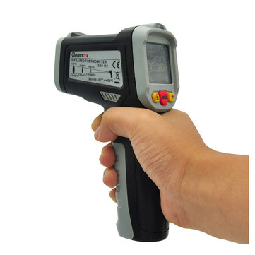 MUSTOOL® MT6550 -50~550℃ Digital LCD Color Display Non Contact Infrared Laser Thermometer Temperature Tester Gun with 12 Indicative Ring + Temperature Difference Alarm (-58~1022℉)