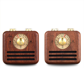 Loskii Wood bluetooth Subwoofer Handmade Walnut Wood Portable bluetooth Wireless Connection Speakers Stereo Subwoofer FM/AM Dual Band Radio Large Battery Capacity Handcrafted FM/AM Loudspeakers