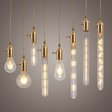 Dimmable E27 LED Edison COB Bulbs Retro Classic Filament Retro Globe Christmas Lighting AC220V