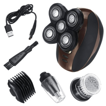 4 IN1 5 Head Men Cordless Electric Shaver Razor Bald Clipper Trimmer USB Rechargeable