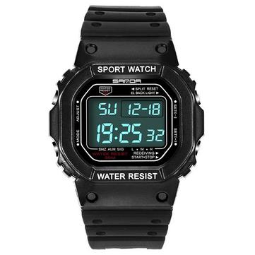 SANDA 329 Moda LED Ekran Erkekler Watch Su Geçirmez Spor Dijital Saat