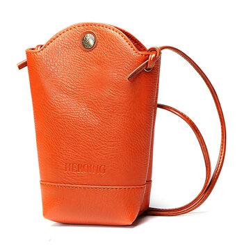 Women Irregular Little Phone Bag Casual PU Crossbody Bag Bucket Bag