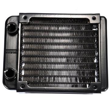 90mm 10 Tubes G1/4 Aluminum Computer Water Cooling Radiator Cooler For CPU Heatsink