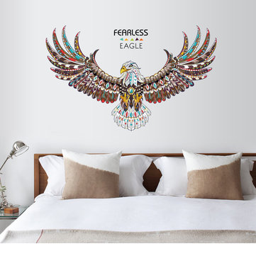 Fearless Eagle Animals Wall Sticker Living Room Bedroom Wall Art Decals DIY Murals Vinyl Decals