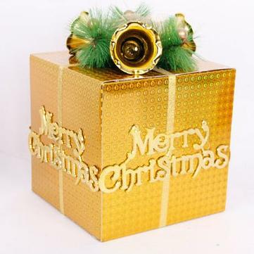 Feliz DIY decorações da árvore de natal Apple festival apresenta presentes caixa de sacos