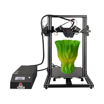 KREATEIT® IRISPro 3D Printer 300x300x400mm Print Size 2-In-1-Out Mix Dual Color Extruder Support Mix Color/Dual Color/Single Color Models