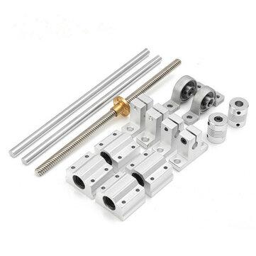 Machifit 15pcs 400mm Optical Axis Guide Bearing Housings Linear Rail Shaft Support Screws Set