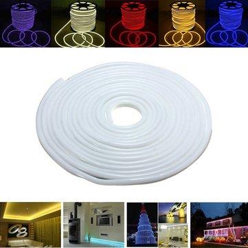 15m 2835 LED flexível néon corda tira luz xmas exterior à prova d'água 220v