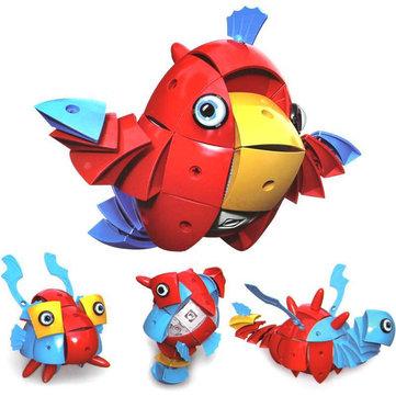 Parcae NS001 90 CÁI Magic Magic Wisdom Ball Red Parrot Blocks Đồ chơi câu đố biến dạng khác nhau