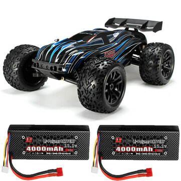 JLB Racing 80A CHEETAH with Two Batteries 1/10 2.4G 4WD Brushless RC Car Truggy 21101 RTR Model