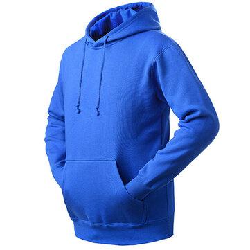 Mens Casual Cashmere Sport Hoodie Warm Fleece Sport Sweater Hoodies