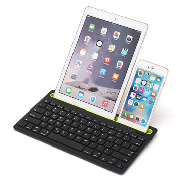 Wireless bluetooth 3 0 Keyboard Stand Holder For  iPhone/iPad/Macbook/Samsung/iOS/Android/Windows