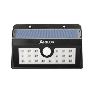 ARILUX® PL-SL 05 Wireless Солнечная 20 LED Водонепроницаемы PIR Motion Датчик На открытом воздухе Теплый белый настенный светильник