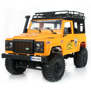 MN90 1 or 12 2.4G 4WD RC Car w or Front LED Light 2 Body Shell Roof Rack Crawler Off Road Truck RTR Toy