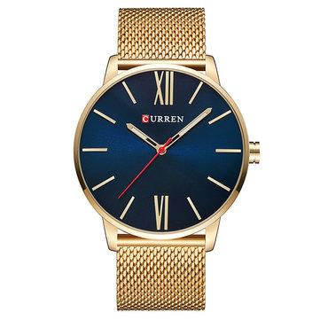 CURREN 8238メンズウォッチラグジュアリー超軽量シンプルローマ数字ダイヤルクォーツ腕時計