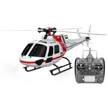 XK K123 6CH Brushless AS350 Skala RC Helicopter RTF Mode 2