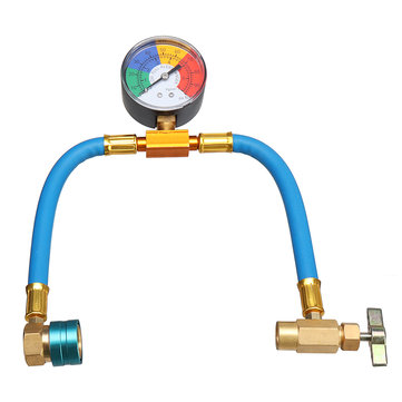 How can I buy R 1234yf A C Service Hose   100PSI Gauge Coupler Recharge Refrigerant Cans Taper with Bitcoin